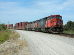 CN 2430 heads container train